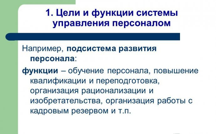 Презентация на тему: Цели, функции, организационная структура
