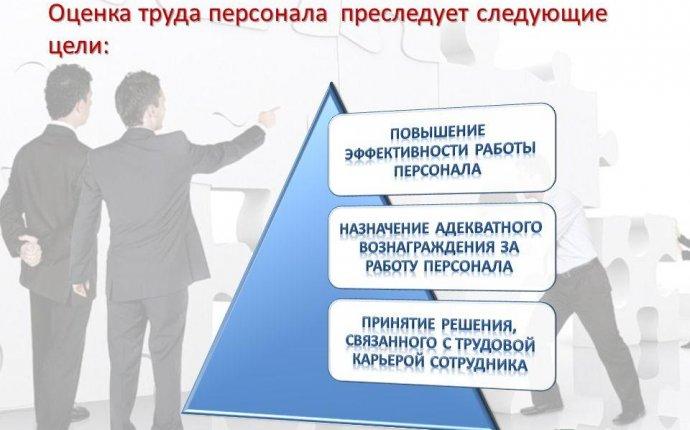 Презентация на тему: Оценка труда персонала преследует следующие